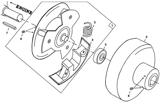 Little Beaver mechanical earth drill clutch parts