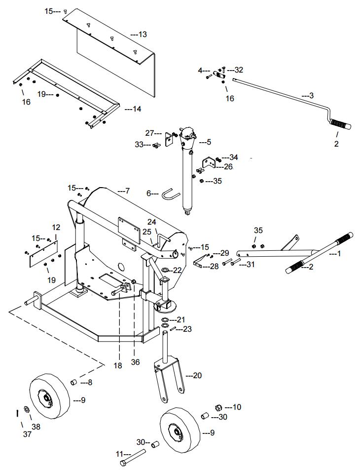 Little Beaver KT200B Frame Assembly Parts Diagram