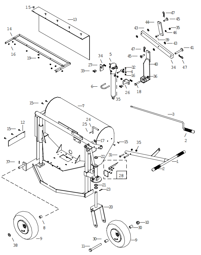 Little Beaver KT2400B Frame Assembly Parts Diagram