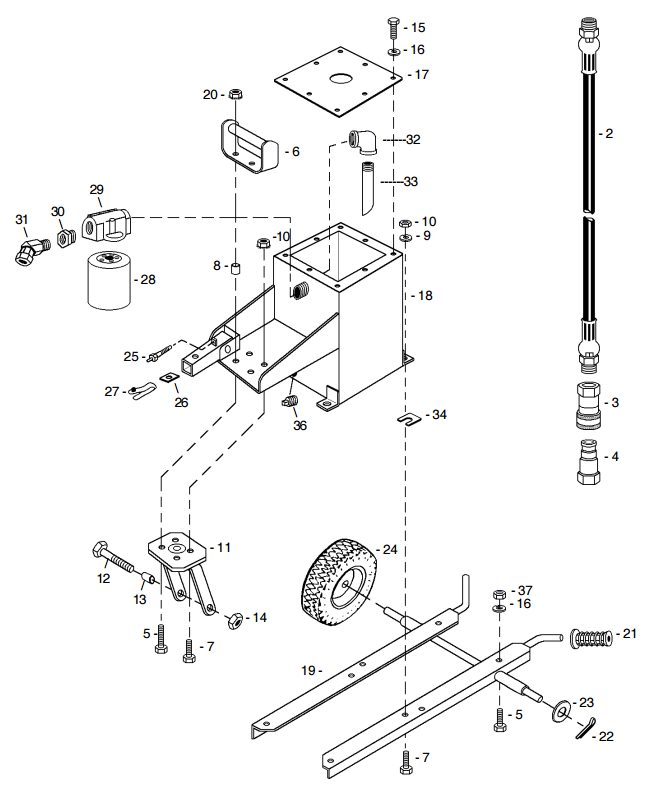 Little Beaver Tank and Carrier Hydraulic Part Diagram