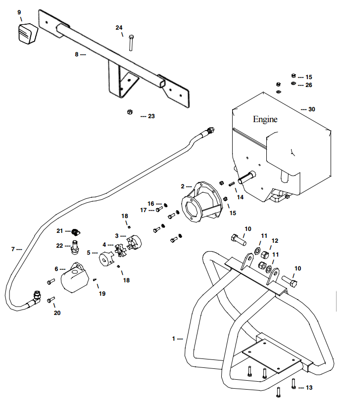 Little Beaver Towable Engine Frame Assembly Part Diagram