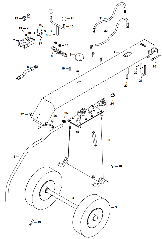 Little Beaver Towable Spine & Valve Assembly Parts Diagram