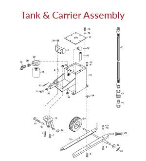 Hydraulic Tank & Carrier Assembly