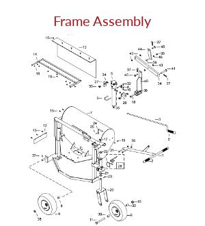 KT1200B Frame Assembly Parts
