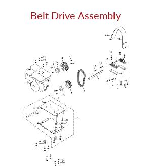 KT200B Belt Drive Assembly Parts