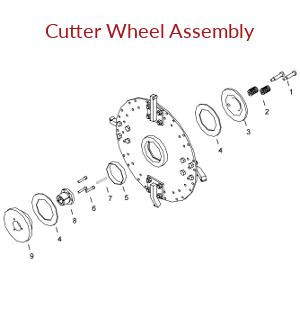 KT2400B Cutter Wheel Assembly Parts