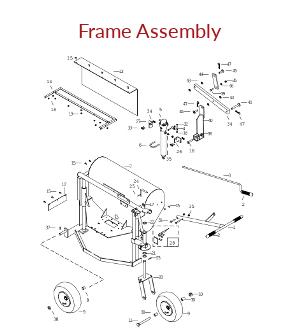 KT2400B Frame Assembly Parts