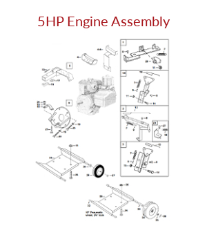 Mechanical Earth Drill 5HP Engine Assembly