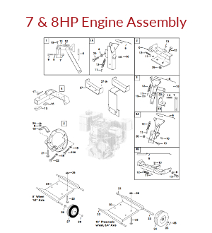Mechanical Earth Drill 7 & 8HP Engine Assembly