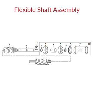 Mechanical Earth Drill Flexible Shaft Assembly
