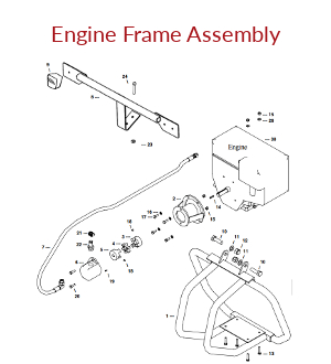 Towable Hydraulic Engine Frame Assembly