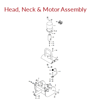 Towable Hydraulic Head, Neck & Motor Assembly
