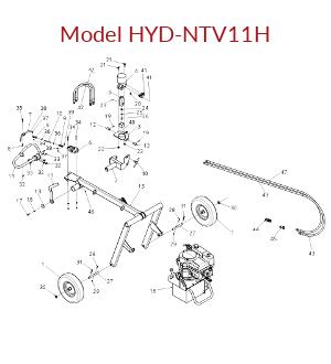Untowable Hydraulic Model HYD-NTV11H Parts