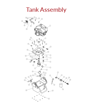 Untowable Hydraulic Tank Assembly